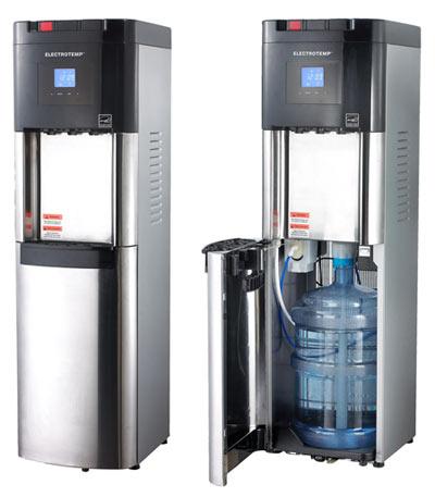 Bottom cooler loading water